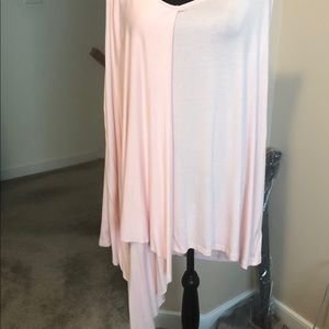 Sleeveless draped blouse